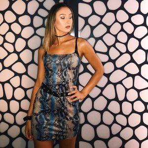 Snakeskin Bodycon dress